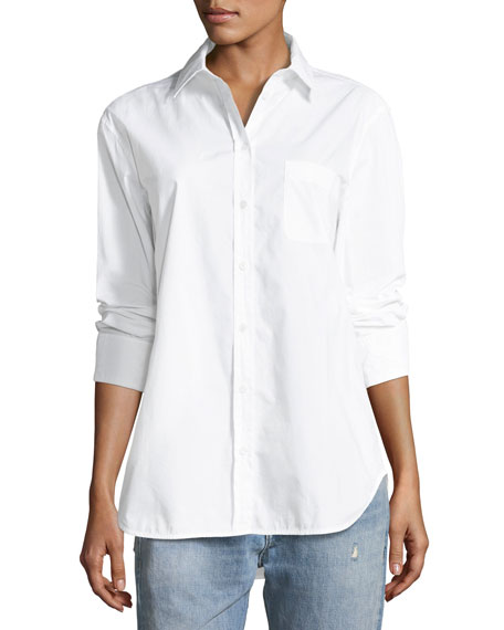 Kenton Button-Front Poplin Shirt