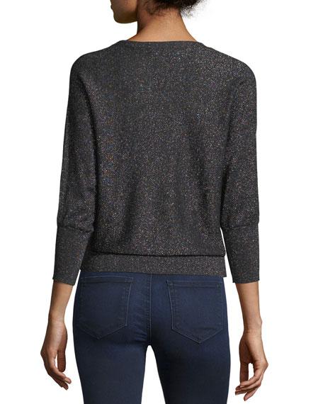 Italian Shimmer Cutout Sweater