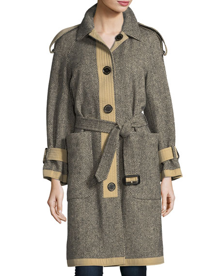 Oakville Reversible Tweed Coat