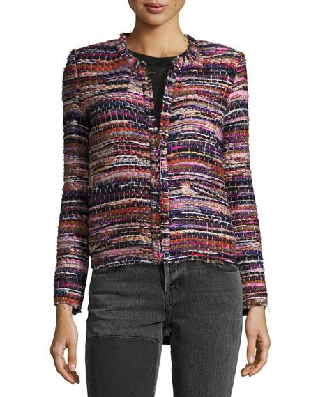 Namantha Multi-Boucle Long-Sleeve Jacket