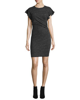 Nanton Cap-Sleeve Fitted Jersey Dress