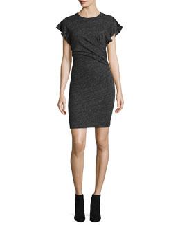 Nanton Cap-Sleeve Fitted Jersey Dress