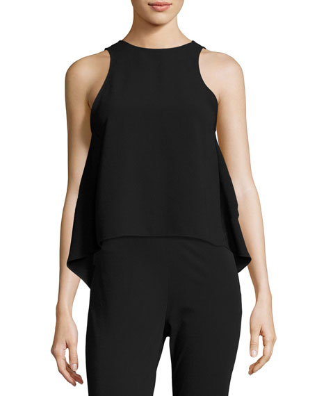 Gartol Sleeveless Asymmetric Crepe Top