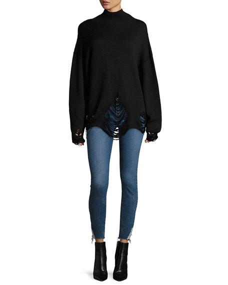 Padas Turtleneck Fringed-Hem Wool Sweater