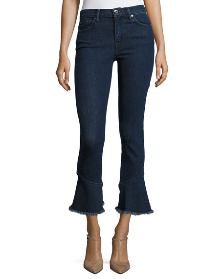 Berry Mid-Rise Flared Denim Jeans