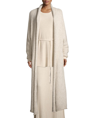 Alden Rolled-Collar Dolman-Sleeve Duster Cardigan