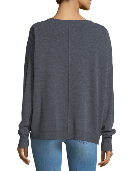 The Destroyed Knit Crewneck Pullover Sweater