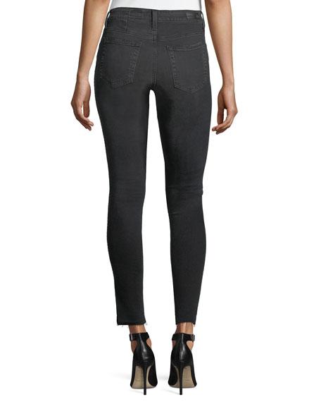 Farrah High-Rise Skinny Ankle Jeans w/ Step Hem