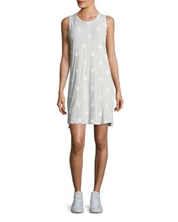 The Muscle Tee Star-Print Dress