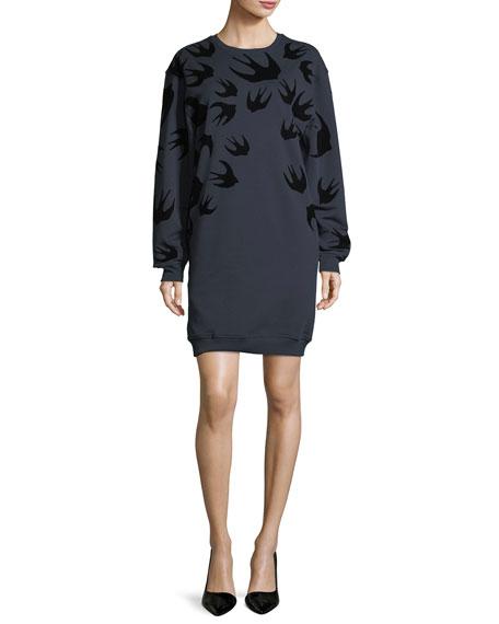 Crewneck Long-Sleeve Sweat Dress