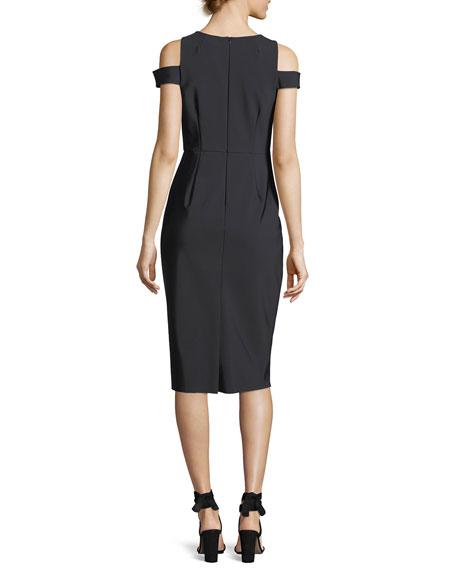 Fiona V-Neck Tech Stretch Cocktail Dress