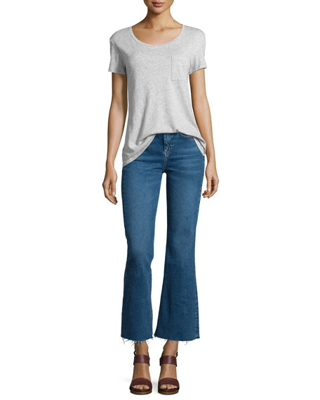 Lou Flare-Leg Cropped Jeans