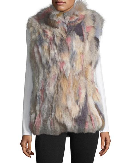 Stand-Collar Fur Vest
