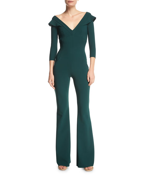 Daiane V-Neck Flared-Leg Jumpsuit