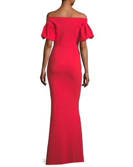 Guendalina Off-the-Shoulder Trumpet Evening Gown