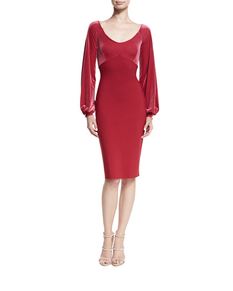 Chiara Boni La Petite Robe Narda Scoop-Neck Cocktail