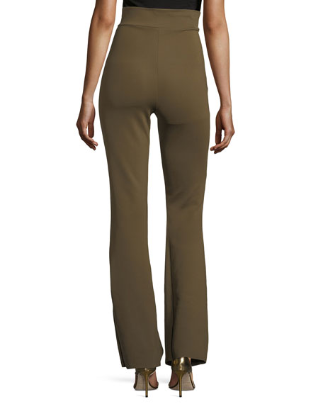 Venusette High-Waist Straight-Leg Jersey Pants