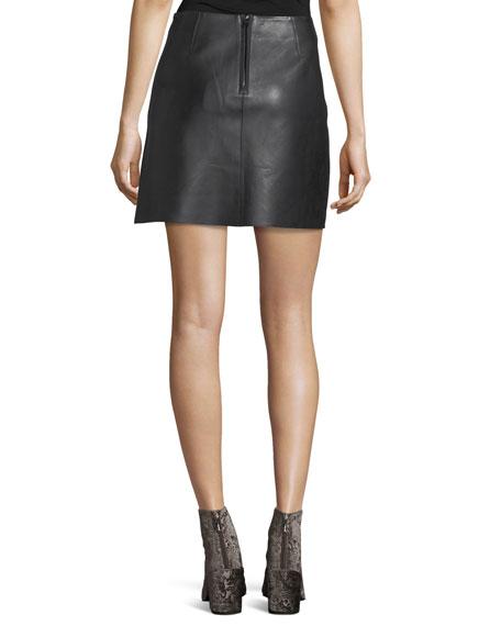 Jenny Lamb Leather Mini Skirt