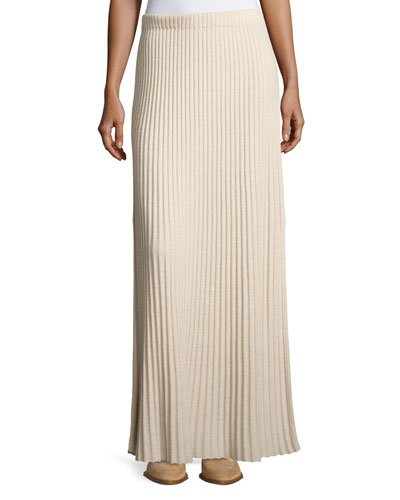Joelle Rib-Knit Column Maxi Skirt