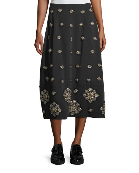 Lottie Embellished Midi A-Line Skirt