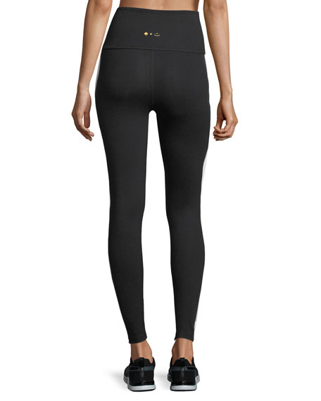 x kate spade new york madison high-waist tuxedo performance leggings
