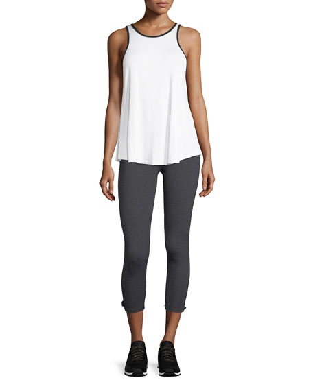 x kate spade new york leaf bow performance capri leggings