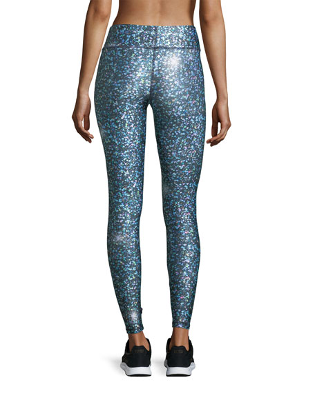 Glitter Night Skies Tall Band Performance Leggings