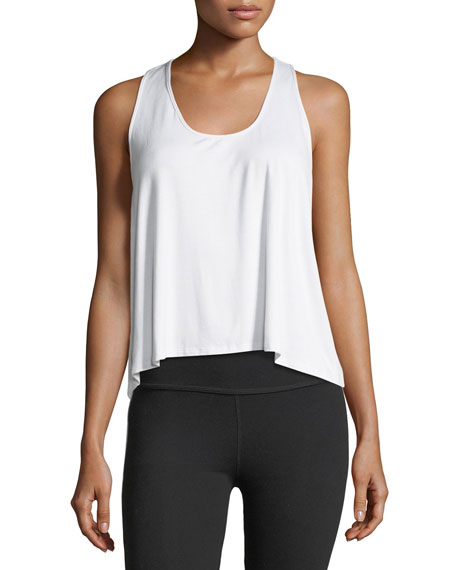 Scoop-Neck Racerback Flare Body Tank