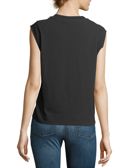 Crewneck High-Twist Jersey Muscle Tee
