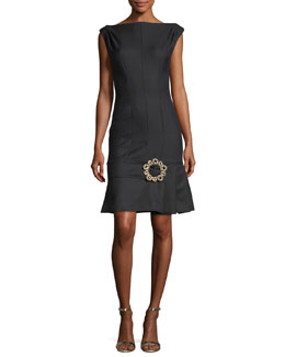 Claude Skirt-Buckle Cocktail Dress
