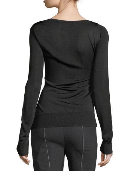 Asymmetric Button-Front Cardigan
