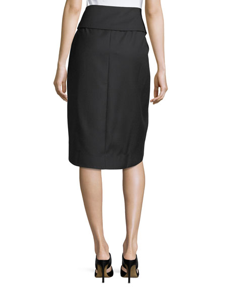 Wrap-Front Tulip Skirt