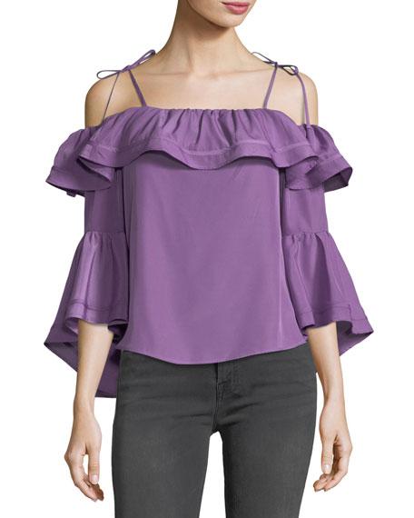 Lynn Off-the-Shoulder Bell-Sleeve Top