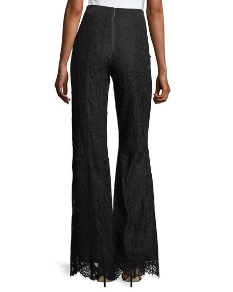Renee High-Waist Lace Wide-Leg Pants