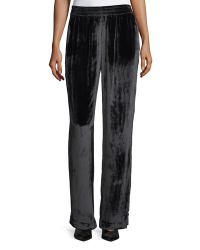 Ardon Wide-Leg Velvet Pants