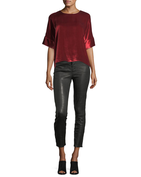 Ruby Lamb Leather Skinny Pants