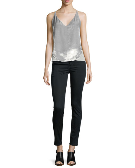 485 Mid-Rise Super Skinny Sateen Jeans