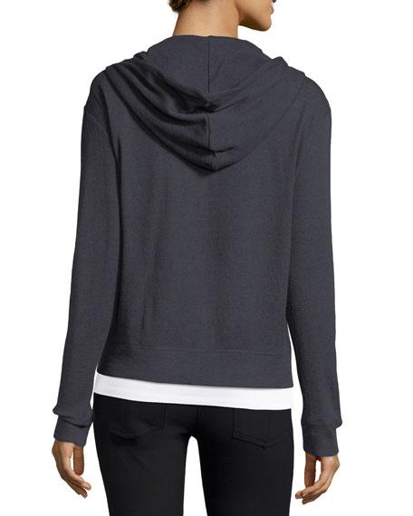 Zip-Front Cotton/Cashmere Hoodie Sweatshirt