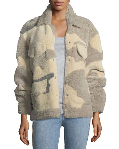 Jake Shearling Camouflage Jacket
