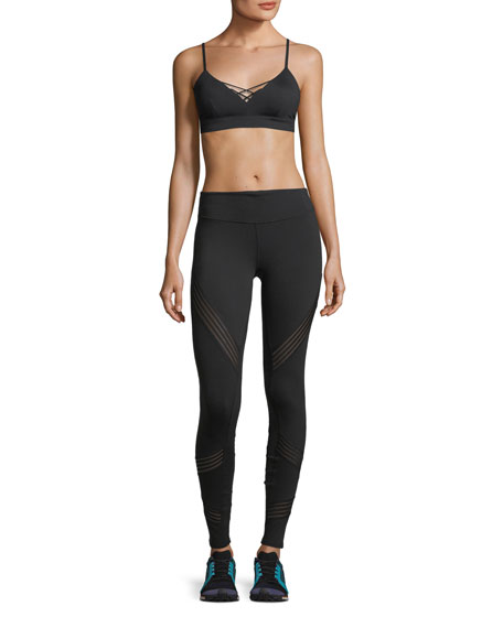 High-Rise Performance Leggings w/ Mesh