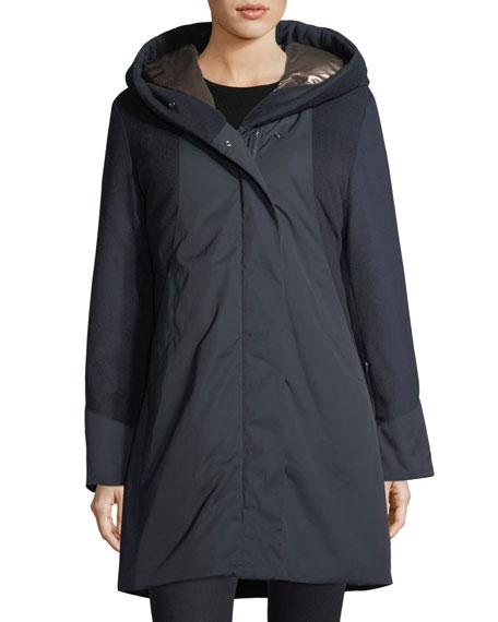 Weisshorn Mixed-Media Zip-Front Coat
