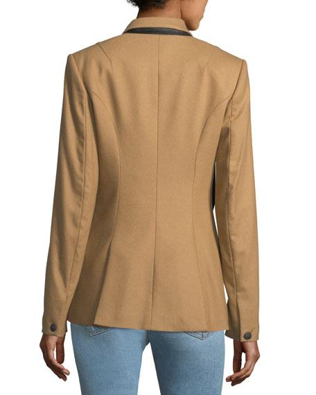 Duke Double-Breasted Wool-Blend Blazer
