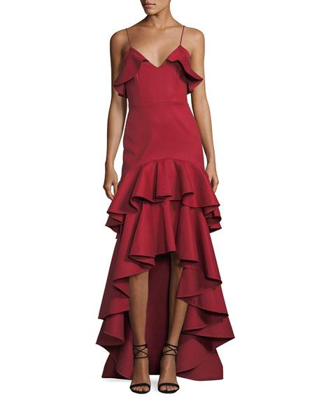 Zafina Sleeveless V-Neck High-Low Dress