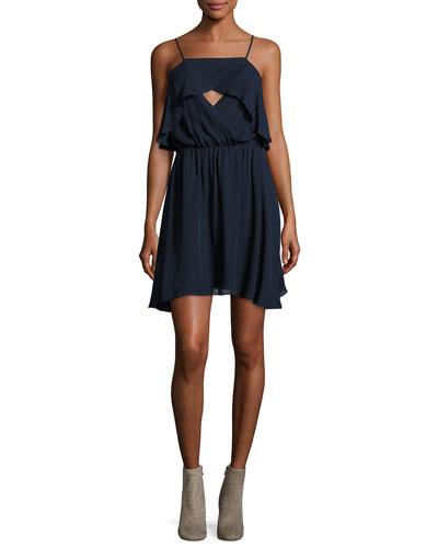 Sunbird Crossover Front Silk Camisole Dress