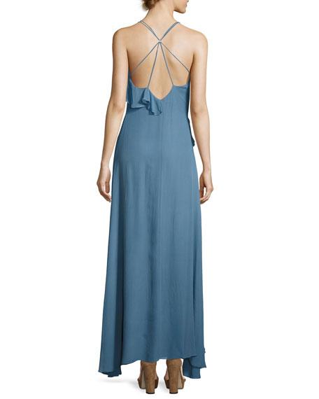 Metamorphosis Ruffled Wrap Maxi Dress