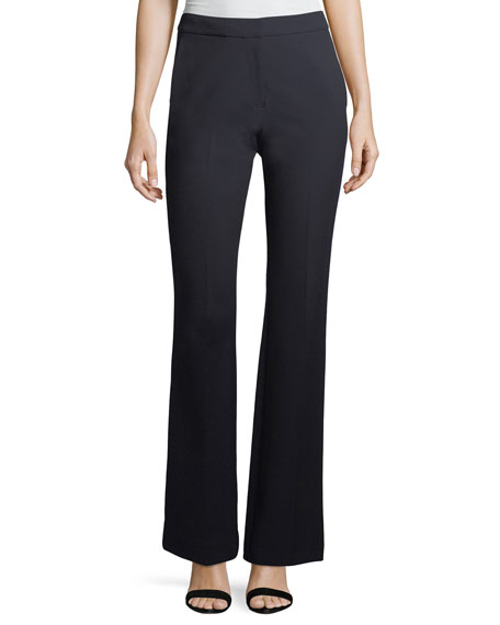 Straight-Leg Crepe Suiting Pants