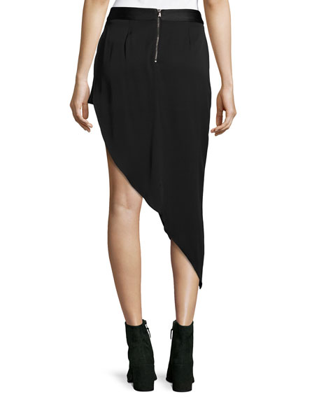 Tux Slayer Asymmetric Silk Skirt