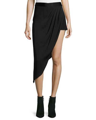 Tux Slayer Asymmetric Silk Skirt