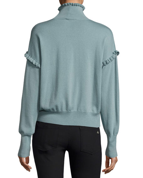 Long-Sleeve Merino Wool Pullover Sweater