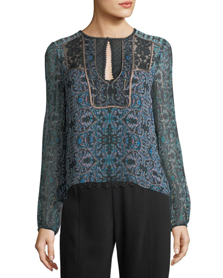 Bella Printed Silk Blouse
